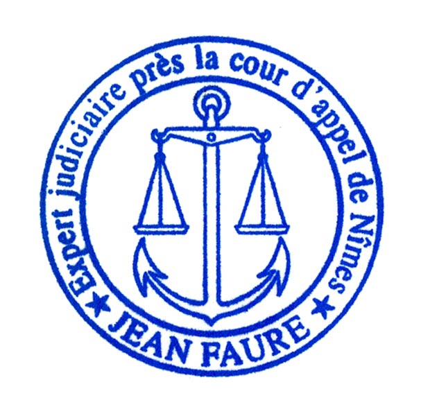 Rubber stamp created for judicial expert (France).