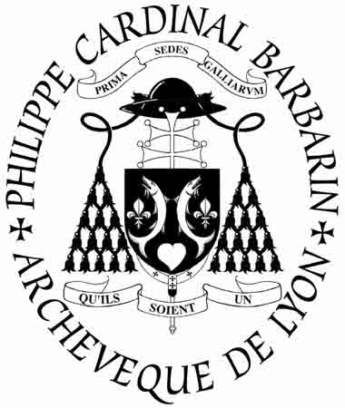 Rubber stamp created for the Cardinal Barbarin, Archbishop of Lyon and (...)